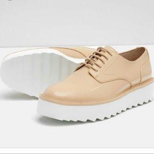 Zara Oxford beige platforms